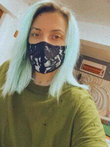 masca protectie cu dantela